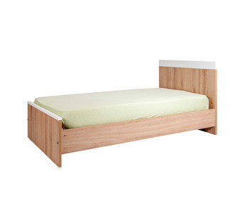 Cuna evolutiva/convertible, de 70x140 cm, transformada en cama, color Blanco, modelo HOLLY