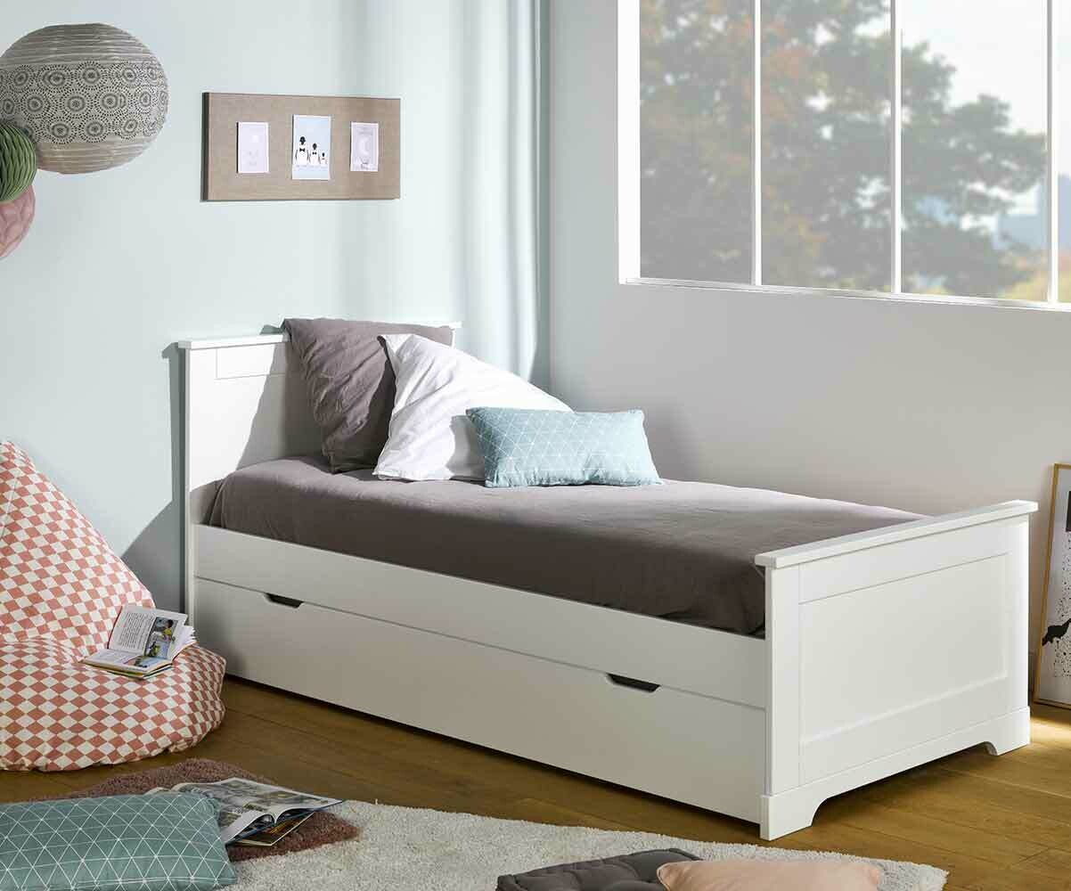 cama juvenil mel blanca 90x190cm