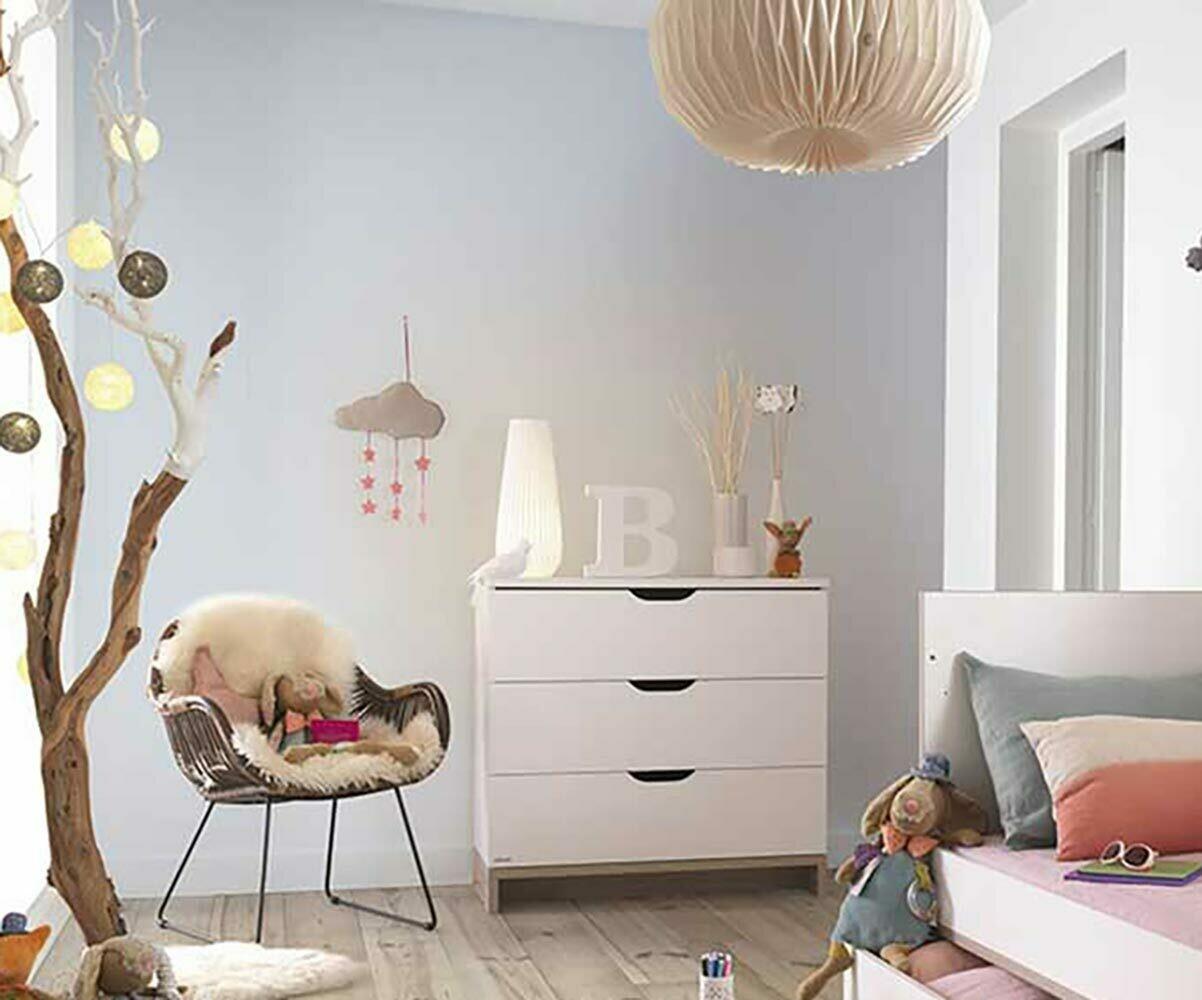 C moda para beb blanca madera colecci n pluma - Comoda cambiador bebe ...
