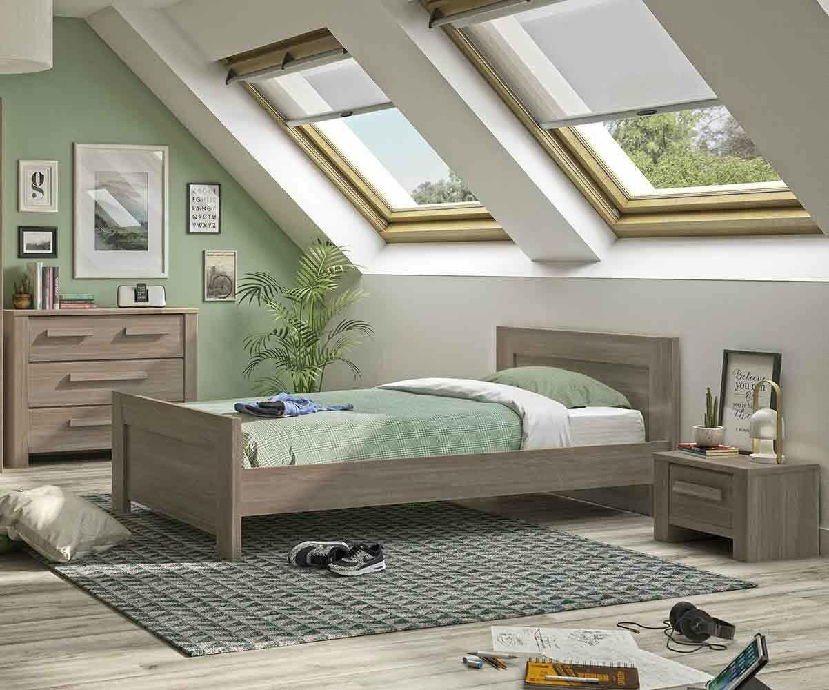Dormitorio juvenil auckland de 4 muebles roble for Muebles de dormitorio juvenil