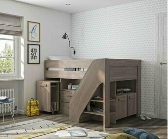 camas media altas para dormitorios juveniles e infantiles. Black Bedroom Furniture Sets. Home Design Ideas