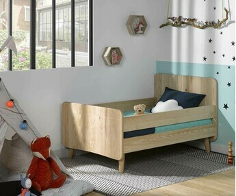 Cama evolutiva WILLOW Natural, con patas