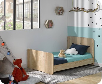 Cama juvenil evolutiva Willow 90x140cm Natural