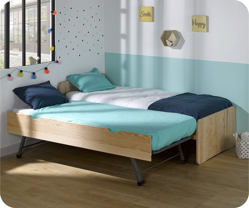 Cama nido juvenil Willow Natural 90x190cm
