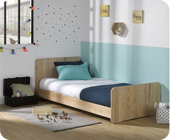 Cama juvenil evolutiva Willow 90x190cm Natural