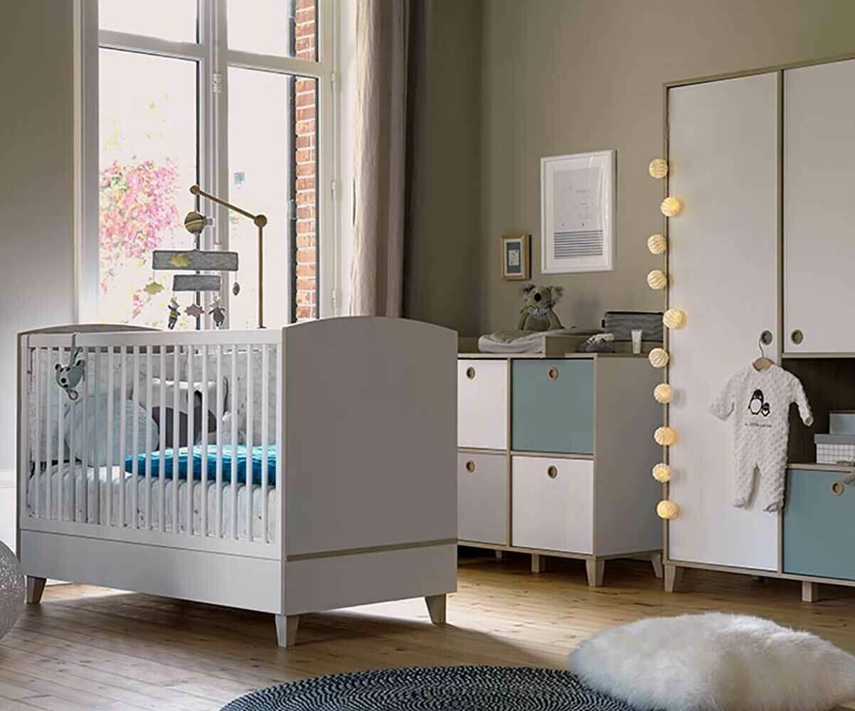habitaci n beb completa perla blanca y madera On habitacion completa bebe boy