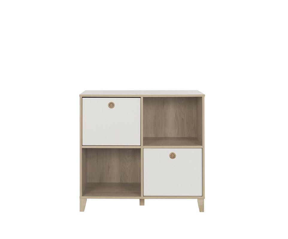 Mini dormitorio perla blanco y madera colch n incluido for Dormitorio blanco y madera