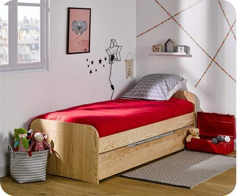 Cama juvenil SLEEP'IN, Natural, 90x190cm con Somier
