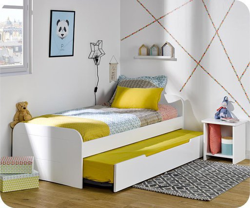 Cama nido juvenil 90x190cm Sleep'In, Blanca