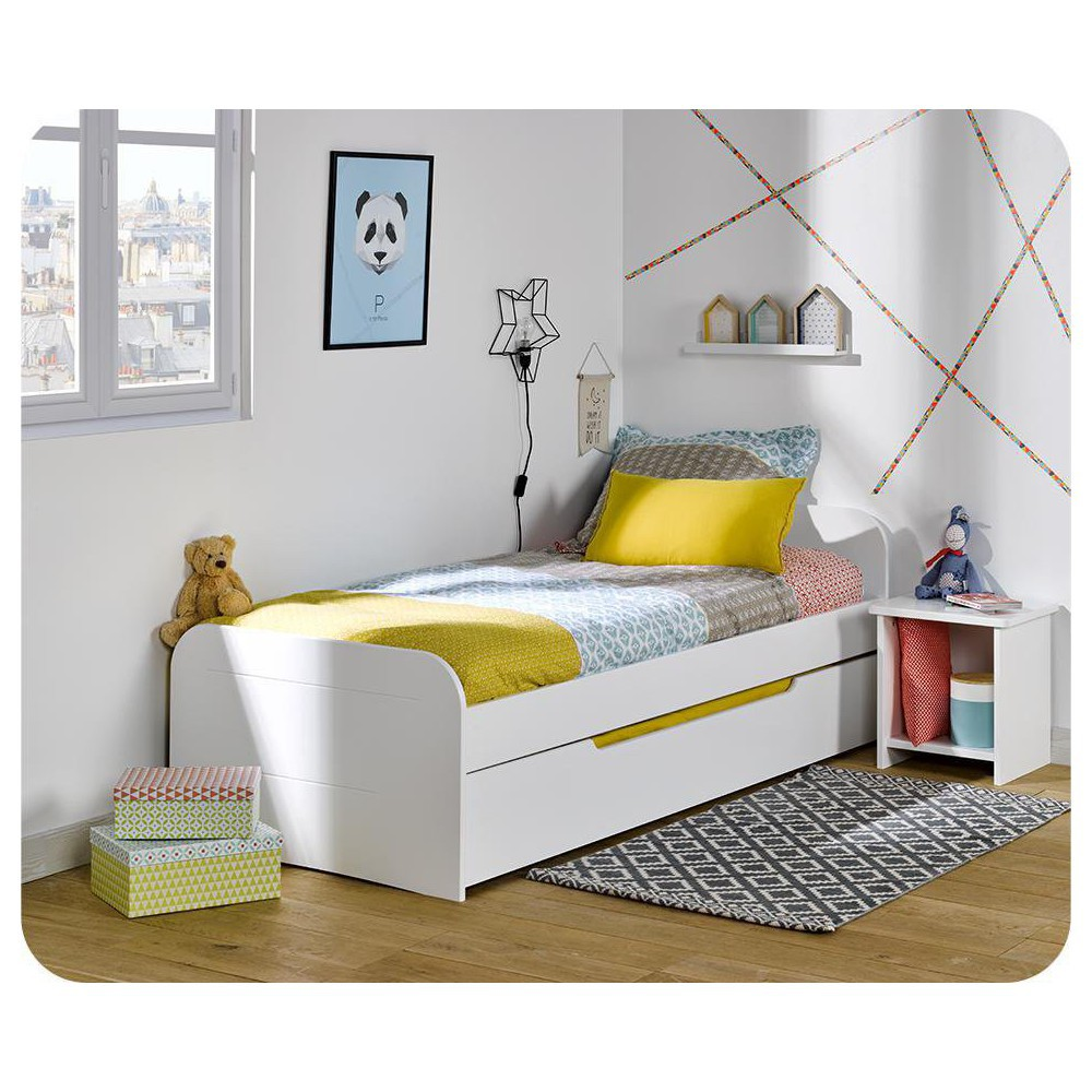 Cama nido juvenil 90x190cm Sleep'In Blanca