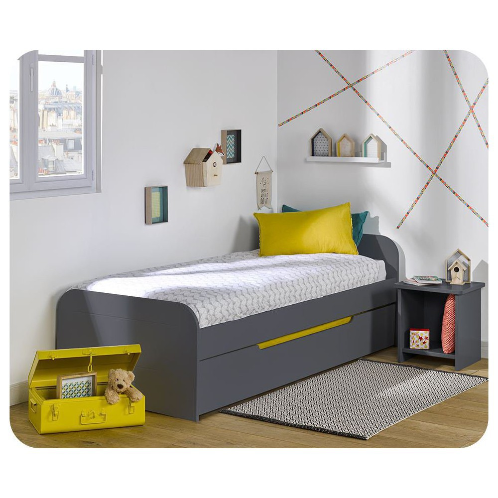 Cama nido juvenil 90x190cm Sleep'In Gris Antracita