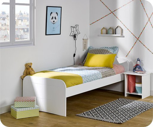Cama juvenil 90x190cm Sleep'In, Blanca