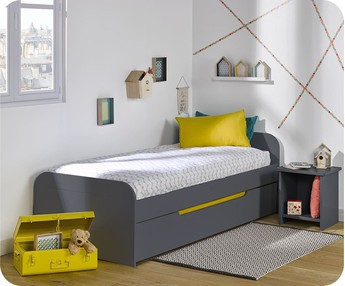 Cama nido juvenil 90x200cm Sleep'In Gris Antracita