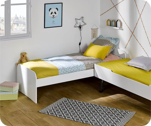 Cama nido juvenil 90x200cm Sleep'In, Blanca