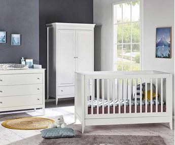 Dormitorios y mini dormitorios beb cuna c moda armario for Habitacion completa bebe boy