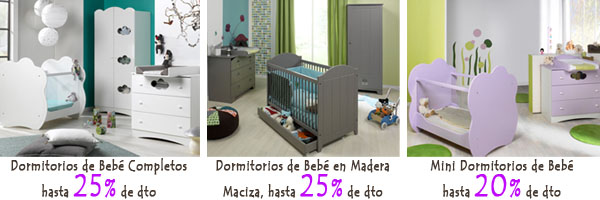 Rebajas en dormitorios de bebe completos
