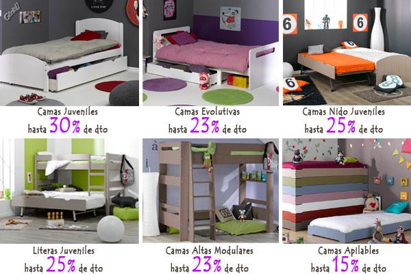 Rebajas en camas para niños