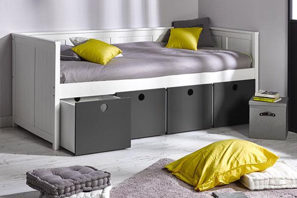 Modelos de cama compacta con cajones para tus hijos