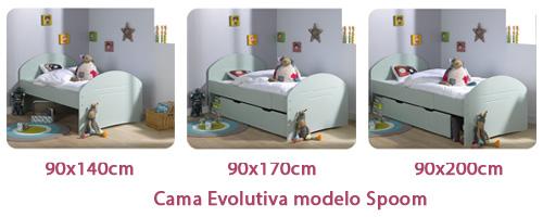 Cama evolutiva del modelo Spoom