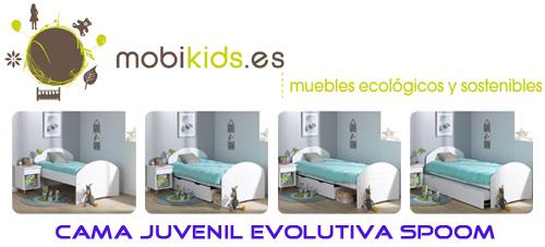 Cama juvenil evolutiva, modelo SPOOM