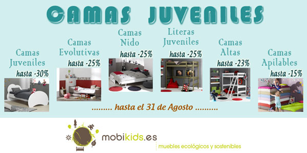 camas niños juveniles en Mobikids