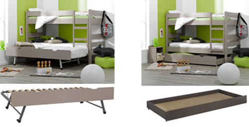 Litera juvenil 1 2 3 litera 2 camas o cama y sofa - Literas nido 3 camas ...