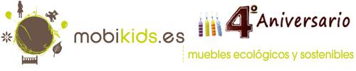 Logo Mobikids Cuarto Aniversario