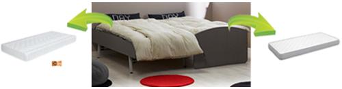 Pack cama nido juvenil con dos colchones para Dream´In
