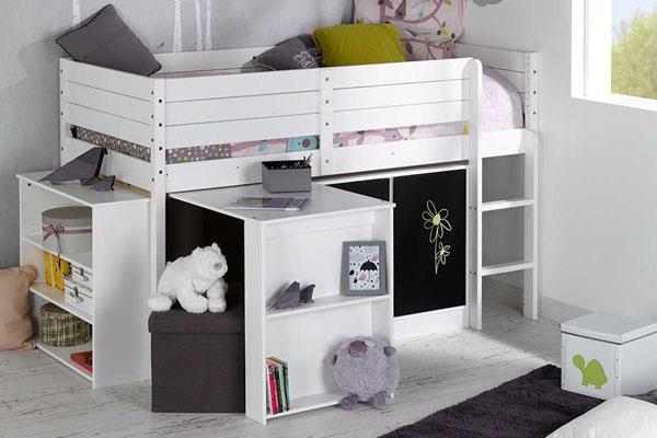 Habitaciones juveniles con cama con armario debajo for Camas con cajones debajo