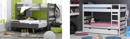 Literas juveniles 123 con cama nido o cajón cama