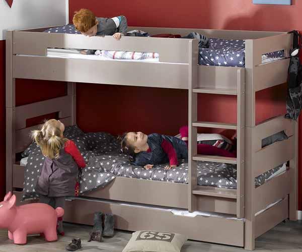 Literas de tres camas dormitorio juvenil de tus hijos for Dormitorio juvenil tres camas