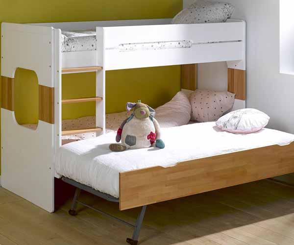 Literas de tres camas dormitorio juvenil de tus hijos - Ropa de cama para literas ...