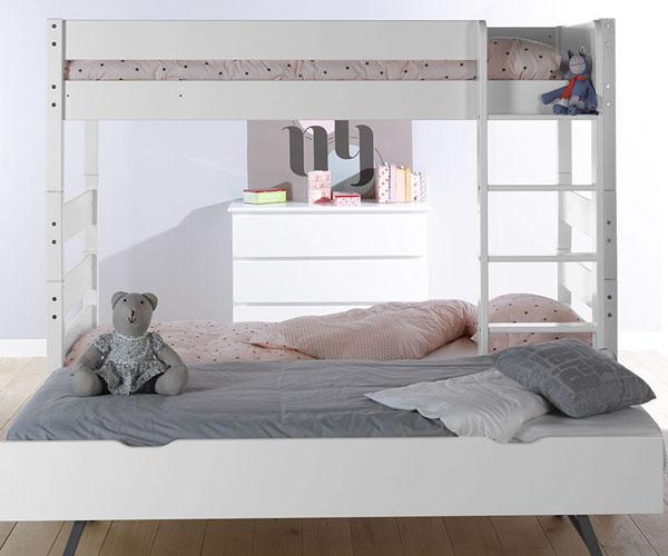 Literas juveniles con cama nido optimiza el espacio - Litera con cama nido ...